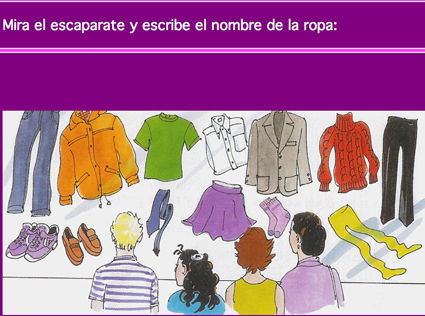 Spanish course Ropa A1