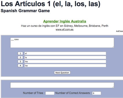 Spanish course articles